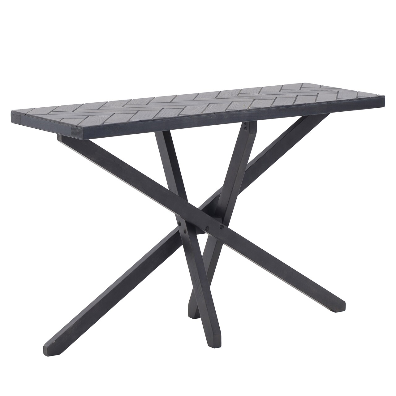 Consola Brock, InArt, 120x40x75 cm, lemn de mesteacan/plop, gri