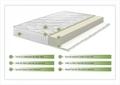 Saltea Aloe Vera 14+2 Memory, husa cu fibre de bambus cu efect antimicrobian, Super Ortopedica, Aerisire 3D Free Air 90x190 cm