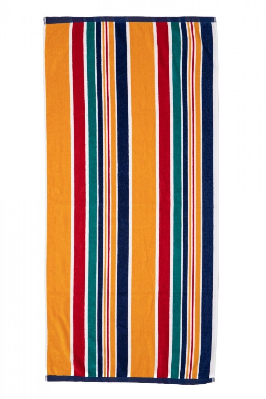 Prosop de plaja Stripe Navy, Heinner, 70 x 140 cm, 80% bumbac/ 20% poliester, multicolor