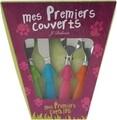 Set tacamuri pentru copii 4 piese Pinguin, Jean Dubost, 15 cm, inox/ABS