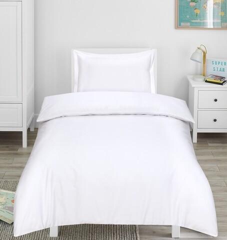 Lenjerie de pat, 1 persoana, Hotel Line Luxury  Bedora, 400 TC, 100% bumbac, alb