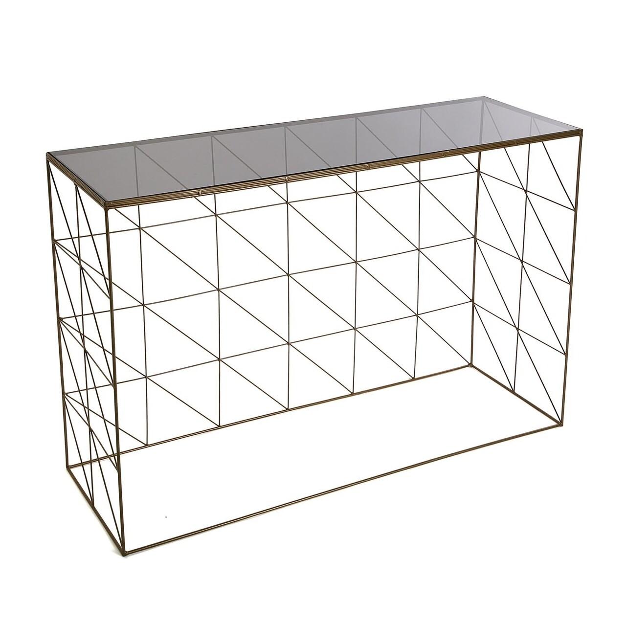Consola Leticia, Versa, 100x30x80.5 cm, metal
