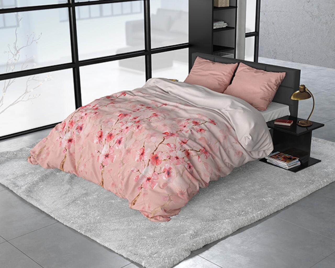 Lenjerie de pat pentru doua persoane Flowers Lizzy, Royal Textile, flanel